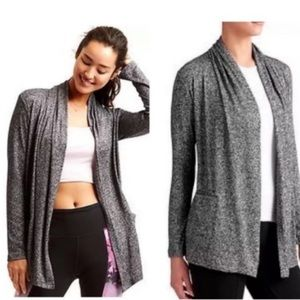 ATHLETA Dark Grey Pose Wrap Cardigan
